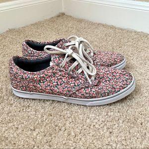 Vans Atwood Pink/Grey Ditsy Floral Sneakers